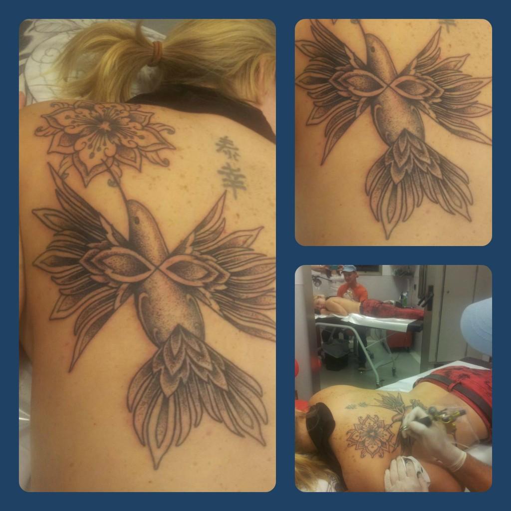 Hummingbird & Mandala Flower - Luciano