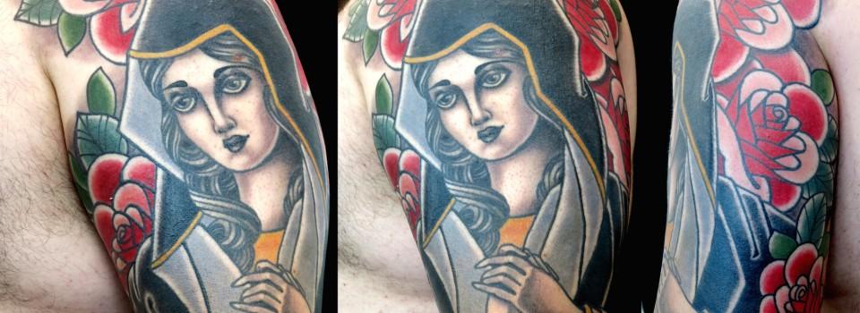 Virgin-Mary-neotraditional-tattoo-Ben-Ogrady-Kaldeidoscope