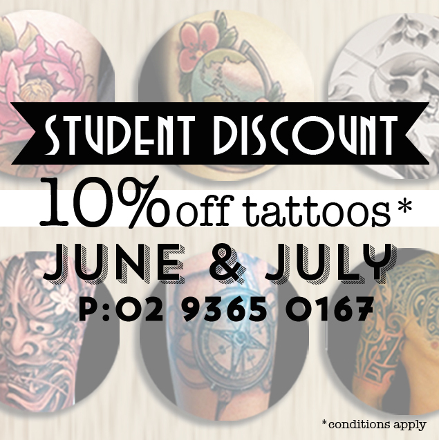 Student Discount Tattoos